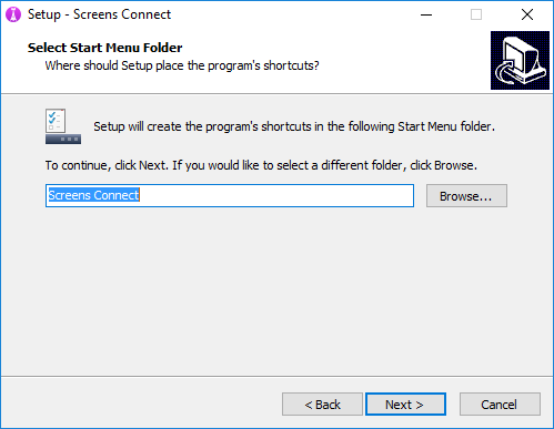 Screens_Connect_for_Windows_-_Installation_-_Select_Start_Menu_Folder.png