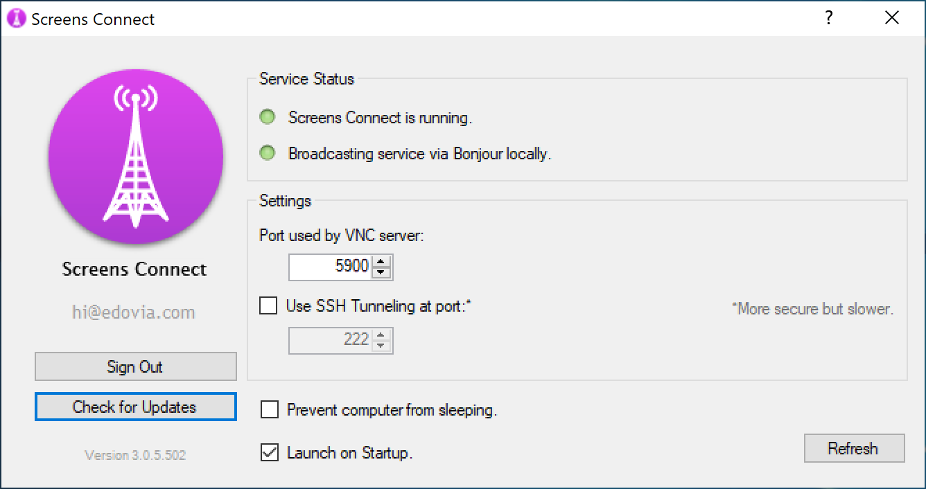 Configuring Windows for Remote Access – Support - Edovia Inc