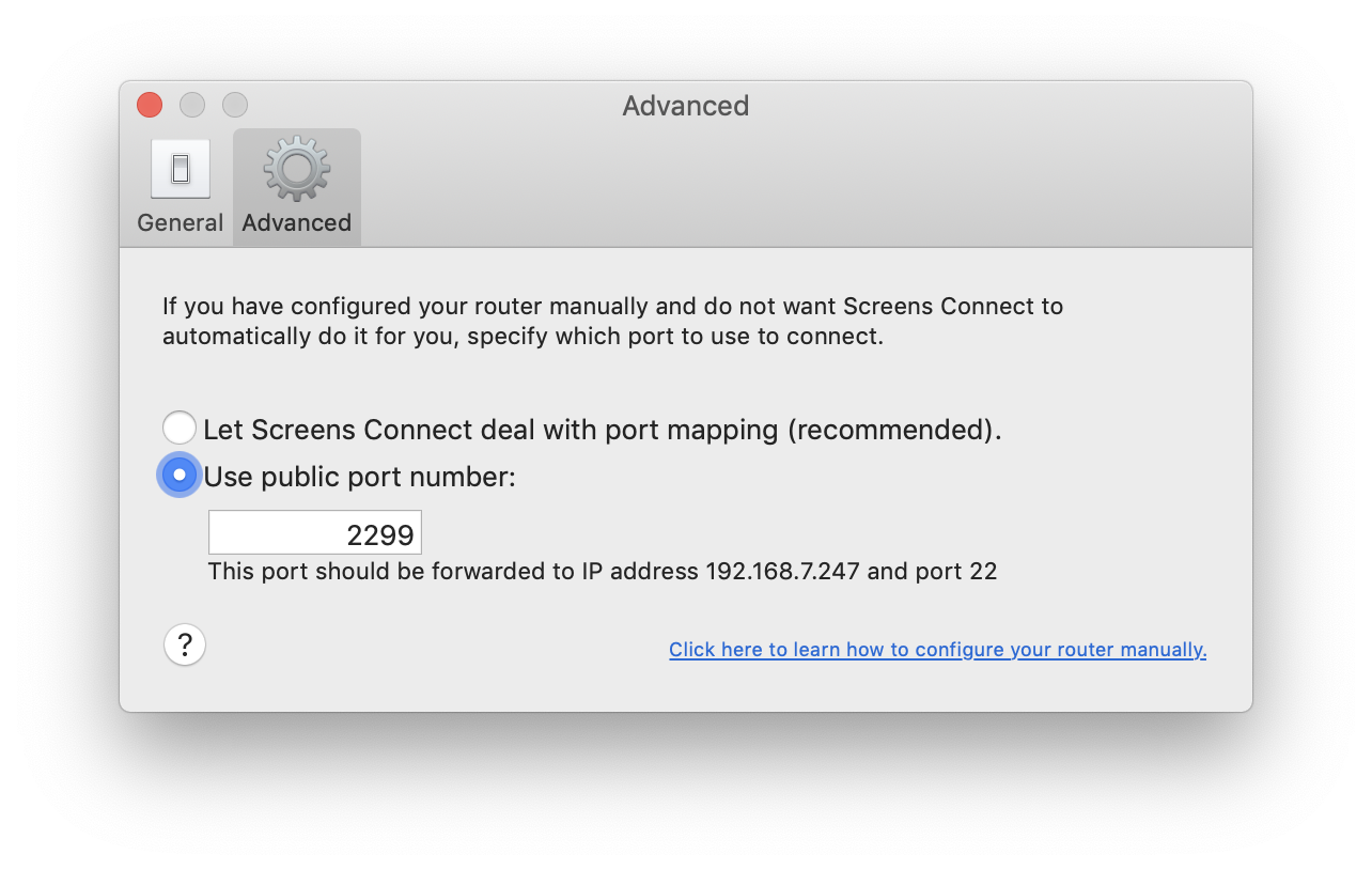Configuring Screens Connect for macOS Manually – Support - Edovia Inc